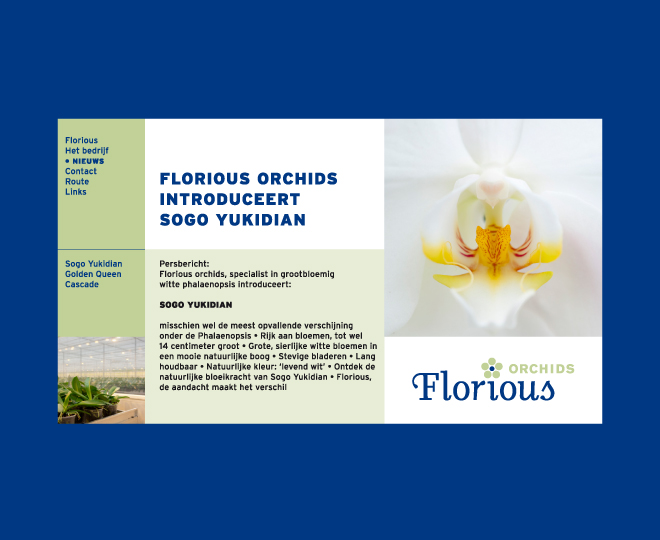 website Florious orchids