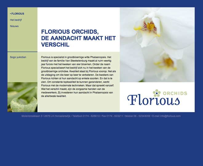 Florious orchids website